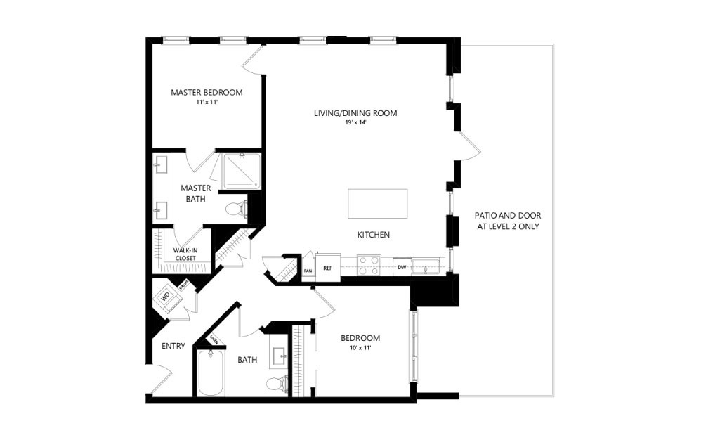 Live Park Two Bedroom Apartment -- Patio/Balcony in select apartments