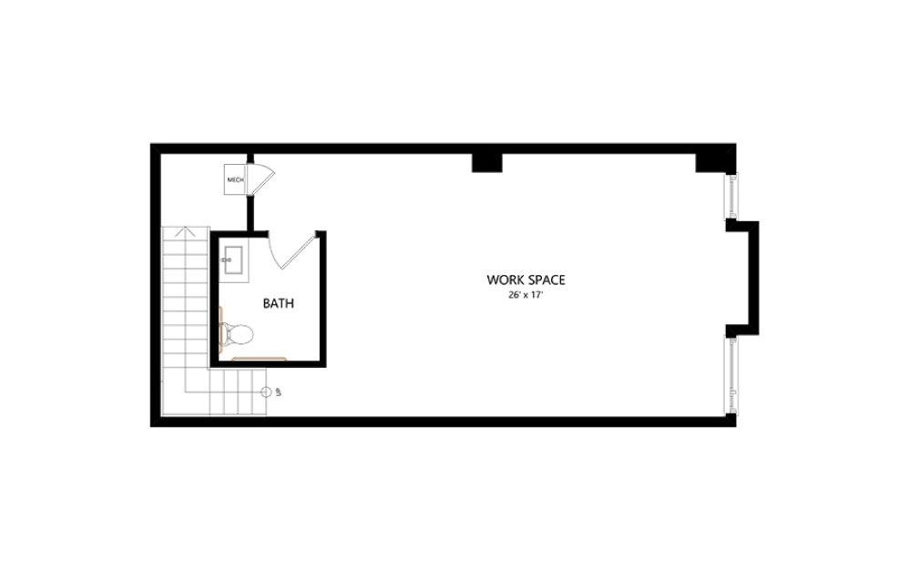 LW-03 Live/Work - Live Work floorplan layout with 1.5 bath and 1520 square feet. (Floor 2)