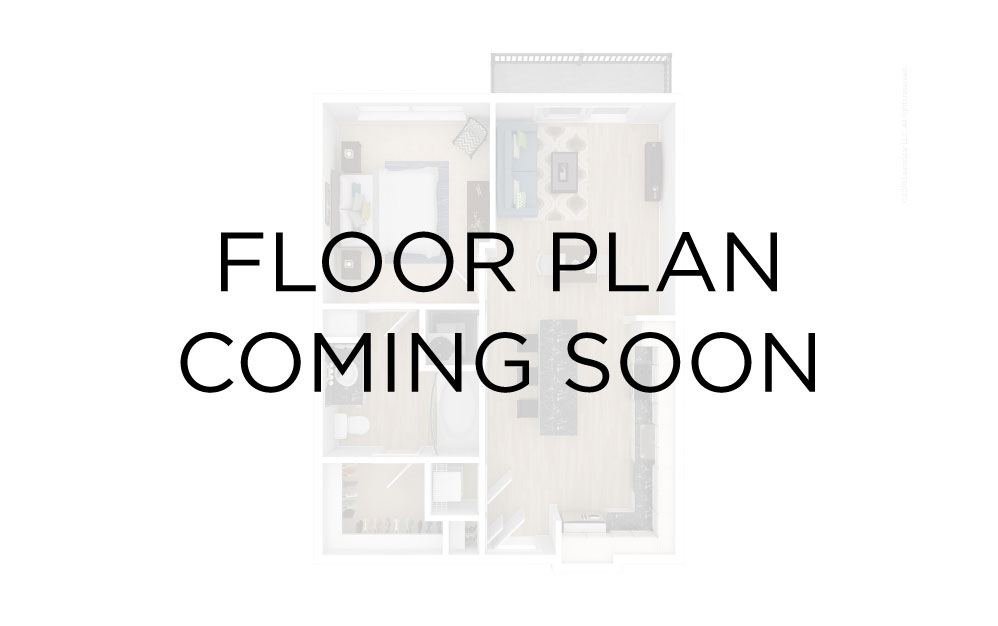 Tower T-B-07a - 1 bedroom floorplan layout with 1 bath and 799 square feet.